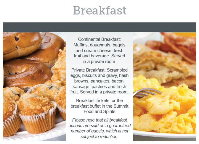 Chestnut Wedding Breakfast Menu