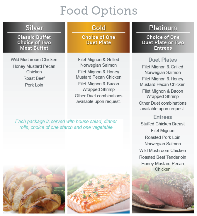 Chestnut Wedding Food Options