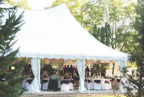 Chestnut Tent Wedding Reception