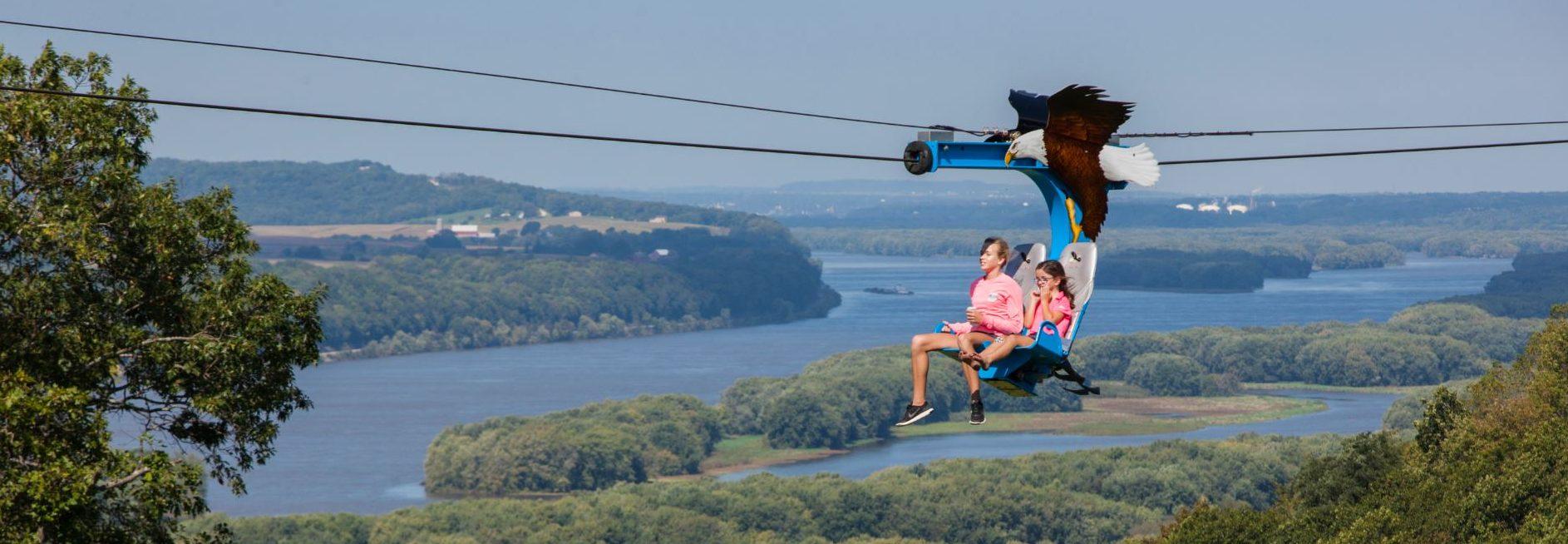 soaring eagle zipline | chestnut mountain resort
