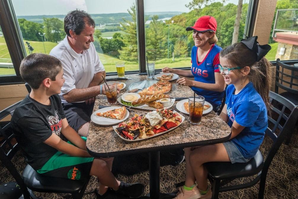 Family eating at Chestnut Mountain Resort