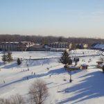 Chestnut Mountain Resort slopes in the winter